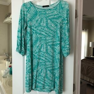Hourglass Lilly Size S Turquoise Print Dress